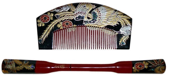 Japanese Hair Accessory Comb And Pull Apart Pin 1940 S