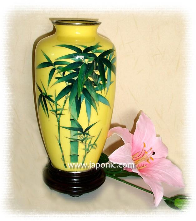 Japanese Antique Cloisonn Enamel Metal Vase About 1920s