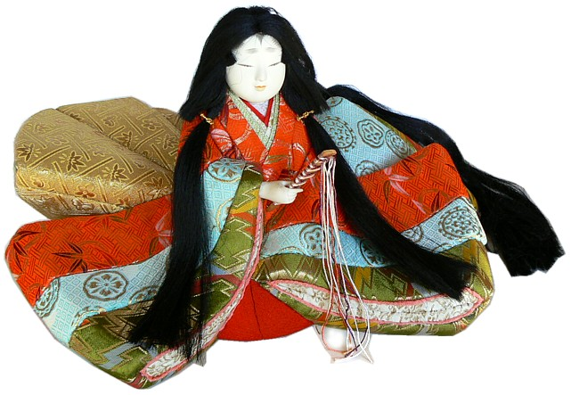 Japanese Princess Antique Kimekomi Doll 1950 S Japanese