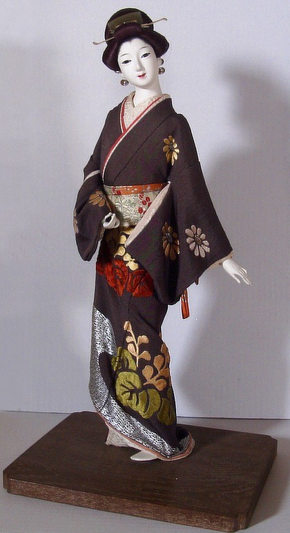 Japanese Antique Doll Of Buke Musume Japanese Dolls