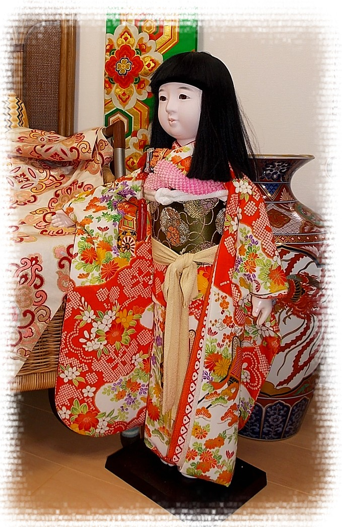 Japanese Antique Doll Of A Girl 1950 S Japanese