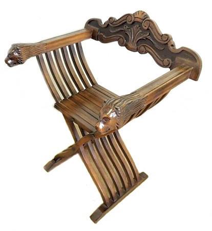 Японское искусство и интерьер. Резное деревянное складное кресло. Interia Japonica, японский интернет-магазин.