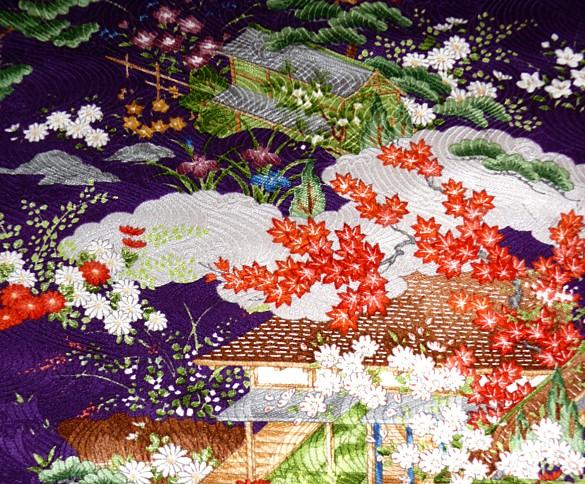 japanese traditional silk kimono 1960s japanese woman