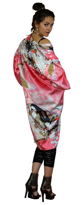 Japanese Princess And Sakura Modern Japanese Kimono Dress